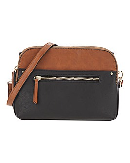 Multi-Compartment Colour Block Crossbody