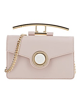 Top Handle Blush Statement Shoulder Bag
