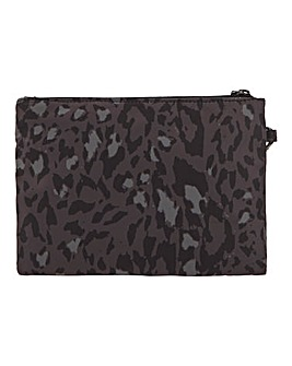 Recyled Nylon Leopard Print Pouch