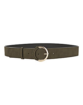 Khaki Loop Detail Belt