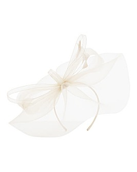 Feather Accent Fascinator Champagne