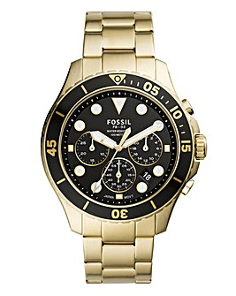 Fossil Gold Bracelet Chronograph Watch