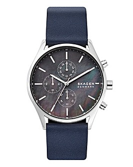 Skagen Leather Bracelet Watch