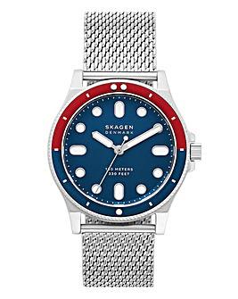 Skagen Fisk Mesh Bracelet Watch