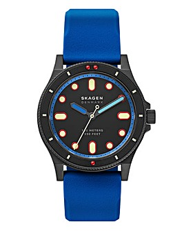Skagen Fisk Blue Silicone Watch