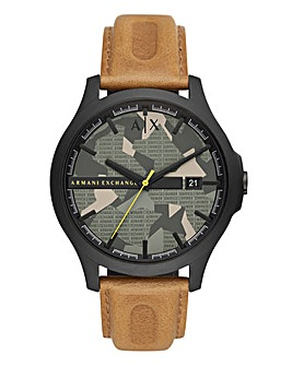 Armani Exhange Leather Hampton Watch