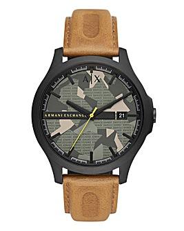Armani Exhange Leather Hampton Watch