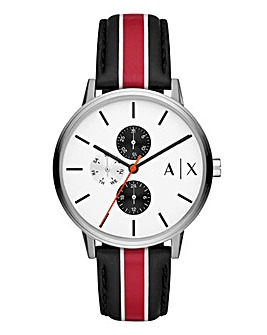 Armani Exchange Stripe Cayde Watch