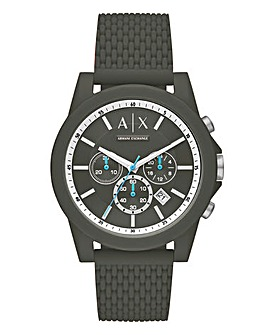 Armani Exchange Silicon Outerbanks Watch