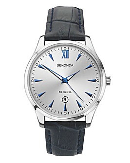 Sekonda Classic Leather Strap Watch