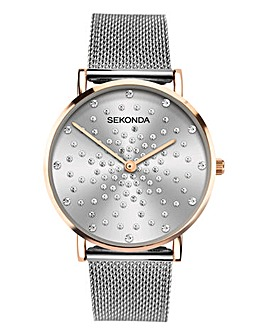 Sekonda Stone Set Dial Bracelet Watch