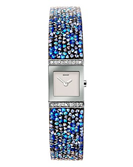 Seksy Rocks Blue Stone Bracelet Watch