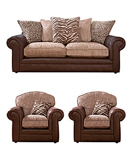 Tribecca 3 Seater Sofa and 2 Chairs