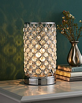 Mikey Chrome Touch Table Lamp