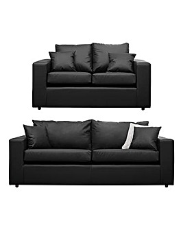 Faux Leather 3 plus 2 seater sofa