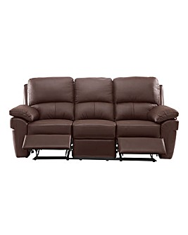 Milan Leather Recliner 3 Seater Sofa