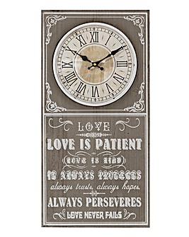 Hometime Love Clock Plaque