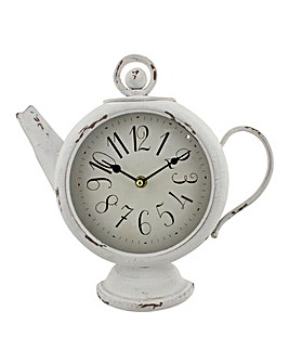 Hometime Teapot Shaped Mantel Clock