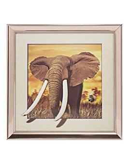 Naturecraft 3D Elephant Framed Print