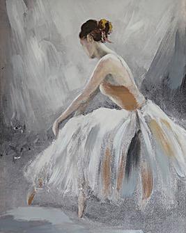 Handpainted Ballerina Canvas