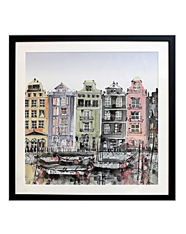 Amsterdam Mounted Framed Print