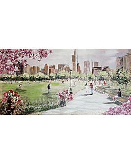 Painted Park Scene Canvas