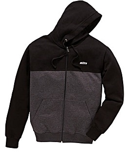 Mitre Colour Block Zip-Through Hoodie Long
