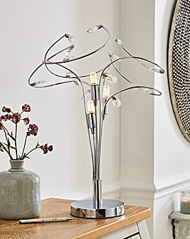 Bremen Silver 3 Light Table Lamp