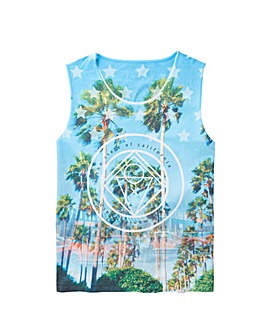 Label J Miami Print Vest Regular