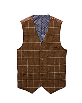 Jacamo Black Label Wool Check Waistcoat