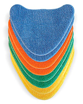 Vax Coloured Velcro Microfibre Pads x8