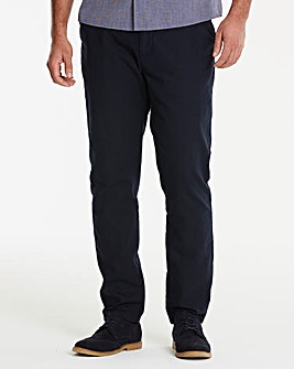 Navy Linen Mix Slim Trousers 29 in