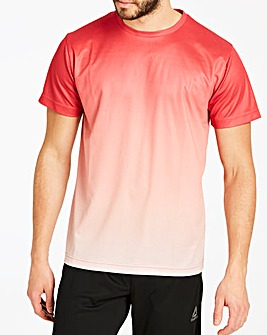 Jacamo Red Faded Sub T-Shirt Long