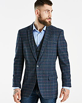 Jacamo Blue Checked Blazer L