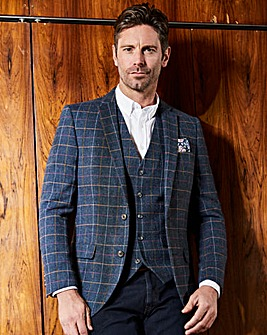 Jacamo Black Label Blue Check Blazer R