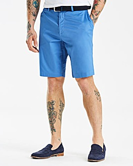Jacamo Black Label Blue Belted Shorts