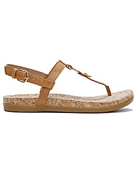 UGG Aleigh Leather Sandals Standard Fit