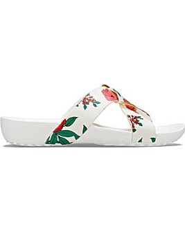 Crocs Serena Cross Band Printed Slide