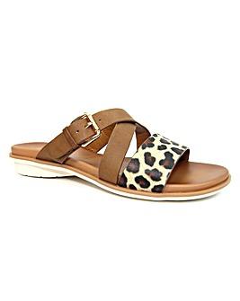 Lunar Josie Leopard Strappy Sandal