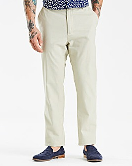Stone Linen Mix Slim Trousers 33 in