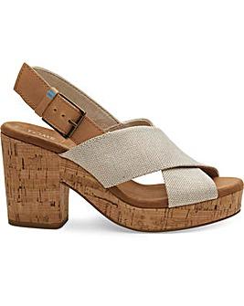 Toms Metallic Woven Ibiza Sandals