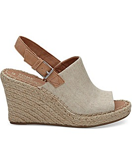 Toms Natural Oxford Women's Monica Wedges