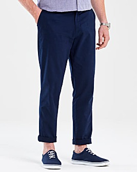Flintoff By Jacamo Navy Slim Chino 31in