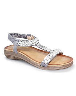 Lunar Tancy 'T' Bar Pearl Sandal