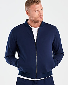 Flintoff By Jacamo Navy Premium Bomber Regular