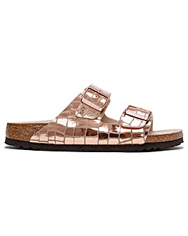 Birkenstock Arizona Gator Gleam Microfiber Two Bar Mules