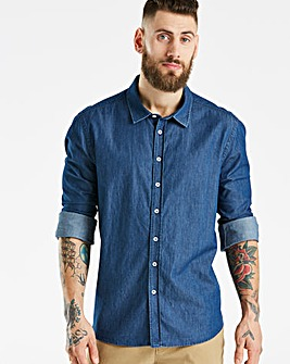 Jacamo Indigo Denim L/S Shirt Regular