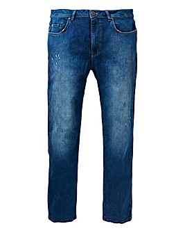 Straight Abraised Midwash Premium Jeans
