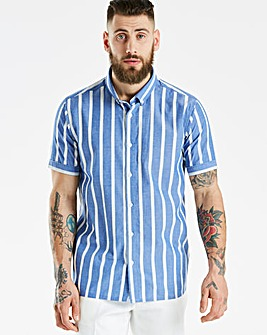 Jacamo Black Label Striped SS Shirt R