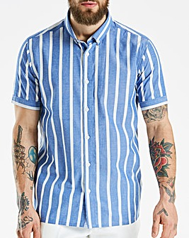 Jacamo Black Label Striped SS Shirt L